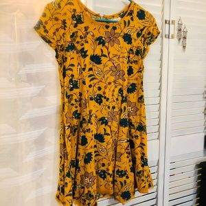 Yellow Floral Tunic Dress